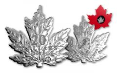 2015 1-oz Silver Cut-Out Maple Leaf Proof