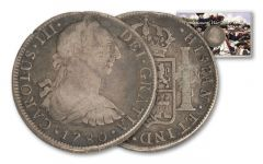 1775-1783 Spain 8 Reales Revolutionary War VG-F