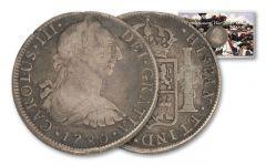 1775-1783 Spain 8 Reales Revolutionary War VG-F