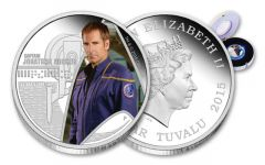 2015 Tuvalu 1-oz Silver Star Trek Captain Archer Proof