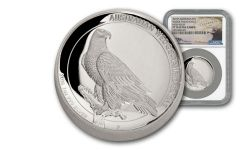 2016 Australia 1 Dollar 1-oz Silver Wedge Tailed Eagle High Relief NGC PF70UCAM Mercanti Signed