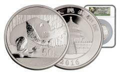 2016 China 150 Gram Silver Panda NGC PF69UCAM