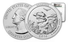 2016 5-oz Silver Shawnee National Forest Uncirculated NGC SP69