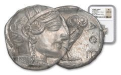 440-404 BC Greek Attica Athens Owl Tetradrachm NGC MS