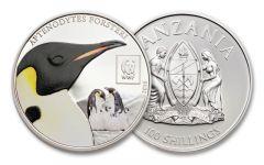 2016 Tanzania 100 Shillings World Wildlife Fund Penguin Proof-Like
