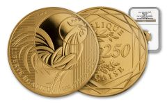 2016 France 250 Euro Gold Rooster NGC MS69 First Struck