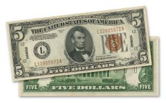 1934 U.S. 5 Dollar Federal Reserve Notes