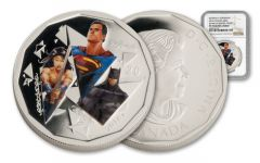2016 Canada 20 Dollar 1-oz Silver Batman vs Superman Trinity NGC PF70