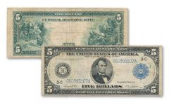1914 5 Dollar Federal Reserve Bank Note AU