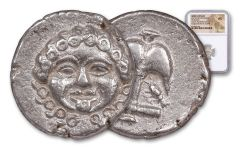 Late 5th-4th Century B.C. Greek Apollonia Pontica Silver Drachm NGC AU
