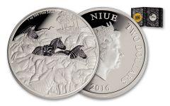 2016 Niue $2 1-oz Silver Great Migrations Zebra Proof