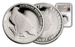 2016 Australia 100 Dollar 1-oz Platinum Wedge-Tailed Eagle NGC PF70UCAM Mercanti Signed