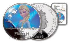 2016 Niue $2 1-oz Silver Frozen – Elsa Proof NGC PF70UC