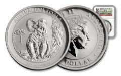 2017 Australia 1 Dollar 1-oz Silver Koala NGC MS69