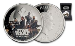 2017 Niue 2 Dollar 1-oz Silver Star Wars: Rogue One - Rebel Alliance Proof