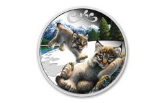 2016 Tuvalu 50 cents 1/2-oz Silver Lynx The Cub Series Proof