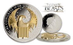 2017 Cook Islands 10 Dollar 1-oz Silver Fantastic Beasts High Relief Proof