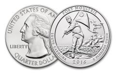 2016-P 25 Cent 5-oz Silver America the Beautiful Fort Moultrie Specimen