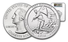 2016-P 25 Cent 5-oz Silver America the Beautiful Fort Moultrie NGC SP70 First Releases
