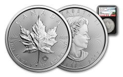 2017 Canada 5 Dollar 1-oz Silver Maple Leaf NGC MS69 FDI - Black