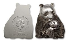 2017 Cook Islands 20 Dollar 3-oz Silver Lucky Panda BU