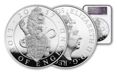 2017 Great Britain Kilo Silver Queen's Beasts Lion NGC PF70UCAM First Struck