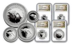 2016 Australia Silver Kangaroo Set NGC PF70UCAM 4pc