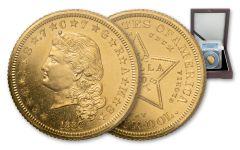 1880 4 Dollar Flowing Hair Stella Pattern Gilt Judd-1658a PCGS PR63