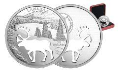 2017 Canada 30 Dollar Silver Cutout Woodland Caribou Proof