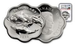 2016 Canada 20 Dollar 1-oz Silver Sea Master Orca NGC PF70UCAM