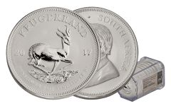 2017 South Africa Silver Krugerrand NGC Gem First Releases 20-Coin Roll