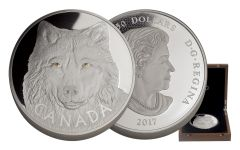 2017 Canada 250 Dollar 1 Kilo Silver Eyes of the Timber Wolf Proof