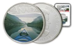 2017 Canada 1/2-oz $10 Silver Kayaking On The River Colorized NGC PF70 Matte Early Releases - Canada's 150th Anniversary Label