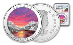 2017 Canada 1 Ounce $20 Silver Fiery Sky NGC PF69UC Early Releases