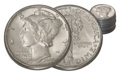 1942 Mercury Dime BU 20-Coin Roll