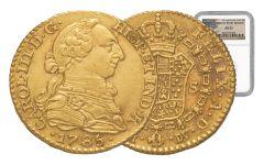 1772-1821 Spain Gold 1 Escudo NGC AU