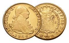 1772-1833 Spain Gold 2 Escudo VF
