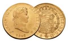 1772-1824 Spain Gold 8 Escudo VF