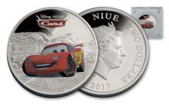 2017 Niue 2 Dollar 1-oz Silver Lightening McQueen Proof