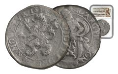 1575-1713 Netherland Silver New York Lion Dollar NGC Genuine