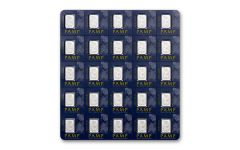 PAMP Suisse 1 Gram Platinum Fortuna Bar 25-Piece Sheet