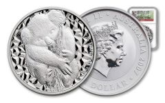 2007 Australia $1 1-oz Silver Koala NGC Gem Uncirculated
