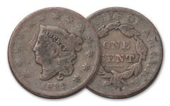 1818-1857 Large Cent AG
