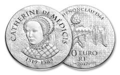 2017 France 10 Euro Silver Women of France Catherine De Medicis Proof