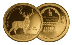 2017 Mongolia Half Gram Gold Red Deer Proof