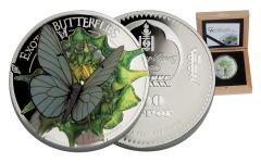 2017 Mongolia 25 Gram Silver Butterflies in 3D Proof