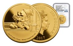 2017 Niue 250 Dollar 1-oz Gold Mickey Through the Ages- Delayed Date NGC PF70 First Release