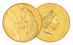 2017 Niue 250 Dollar 1-oz Gold Star Wars Chewbacca Proof