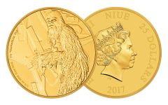 2017 Niue 25 Dollar 1/4-oz Gold Star Wars Classic Chewbacca Proof