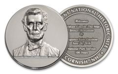 2016 1-oz Silver Abraham Lincoln Silver Commemorative Mercanti Designed